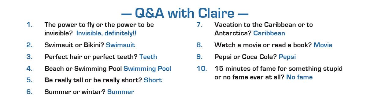 claire q&a