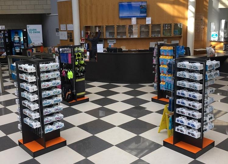Tollcross International Swim Centre Retail Displays